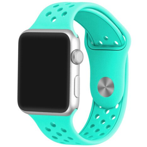 Curea iUni compatibila cu Apple Watch 1/2/3/4/5/6, 42mm, Silicon Sport, Light Blue
